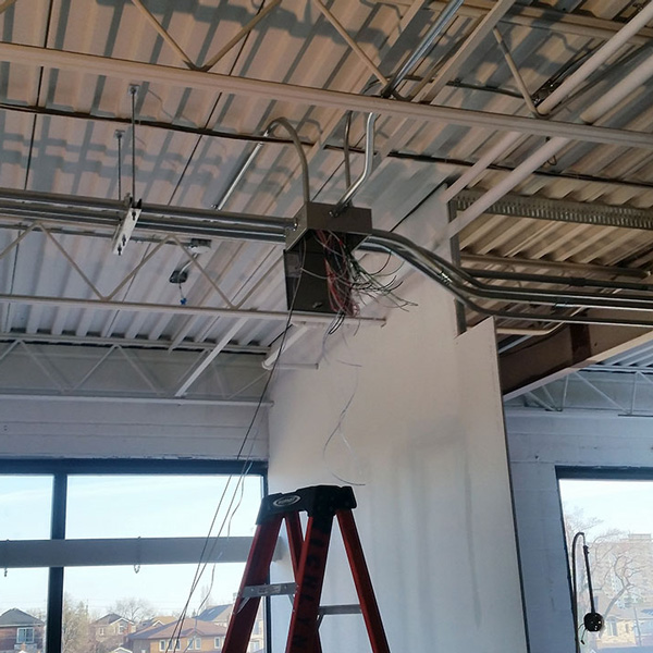 Exposed Conduit Electrical Work